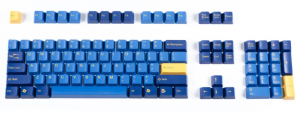 Tai-Hao Yellow & Blue Keycap Set (ANSI) 104 layout